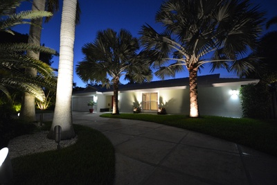 Palm Aire Estate Home at Night