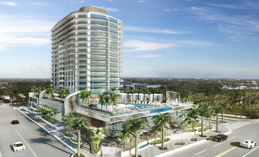 Beach front luxury condos in fort lauderdale paramount for Design hotel hollywood florida