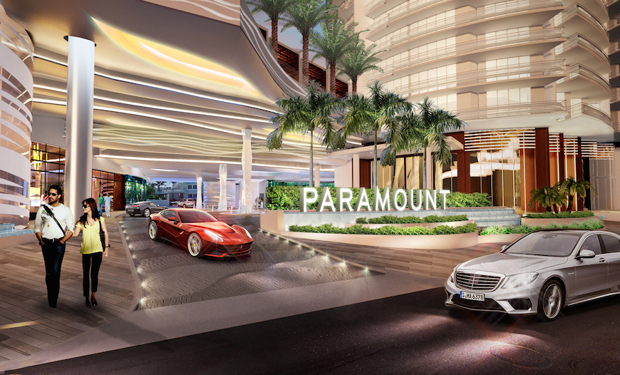 Entrance to Paramount Fort Lauderdale