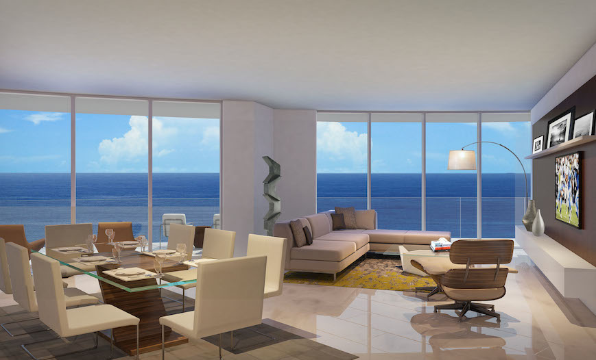 living room fort lauderdale front luxury condos in fort lauderdale paramount 14261